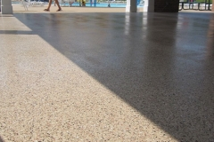 concrete pool deck with epoxy