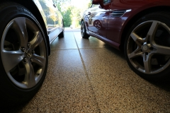 garage floor with easy to clean epoxy