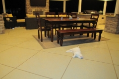 patio trowelled finish