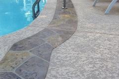 pool deck resurfacing with knockdown finish
