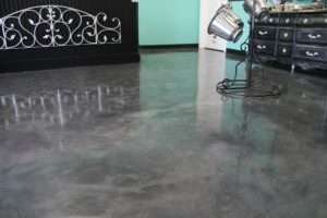 glossy stained concrete