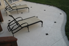 concrete patio with trowelled texture
