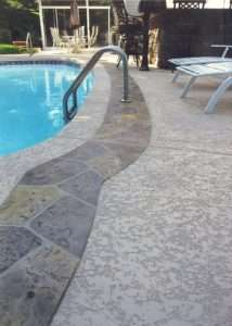 pool deck resurfacing with knockedown finish