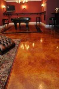gorgeous floor with acid staining
