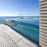 glass swimming pool